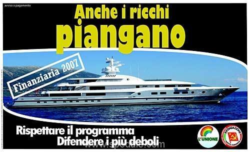 Anche i ricchi Piangano - Manifesto di Rifondazione Comunista per la finanziaria 2007