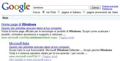 windows potrebbe arrecari danni al tuo computer