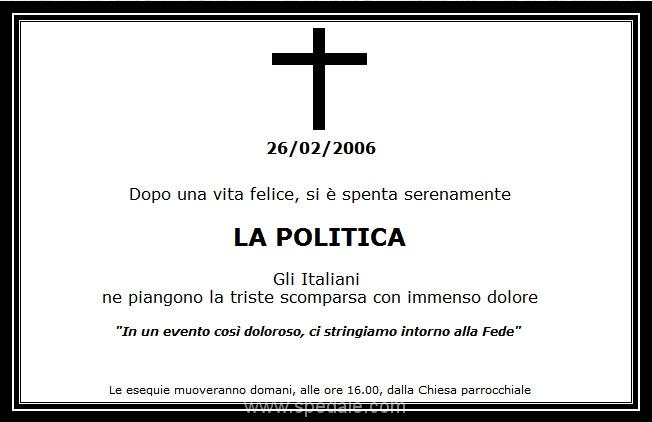 La Politica è Morta