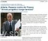 Alitalia, Passera: Airone progetto a lungo termine